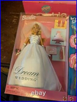Lot of 7 BARBIEs cool clips, dream wedding, Rapunzel, dance flex, kelly