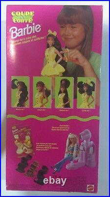 Mattel 1994 FRENCH EDITION 12643 CUT AND STYLE BARBIE COUPE ET COIFFE rare