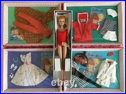 Mattel 2011 W3505 LET'S PLAY BARBIE Doll Reproduction Complete Set Redhead NRFB