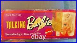 Mattel Vintage Talking Barbie 1970 BLONDE Nape Curl, Mute, Mint in Box