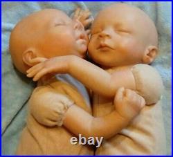 NEW Artist studio 16 reborn baby girl Fraternal TWINS LOT of 2 PRICE DROP -$100