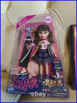 NEW NRFB BRATZ Jade STRUT IT Doll MGA 2 Outfits 2002 Poster Jade Book 2003! Lot