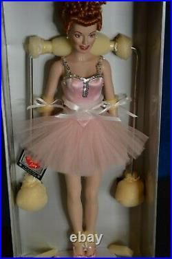 NIB Franklin Mint Lucille Ball I love Lucy Ballerina Doll Ballet Bar COA 161/2