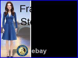 NRFB Franklin Mint KATE MIDDLETON ROYAL ENGAGEMENT Vinyl Portrait Doll B11G664