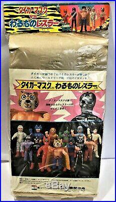 Original Giant Nakajima Tigermask Tiger Mask Vintage 1971 Antique Toy Mint