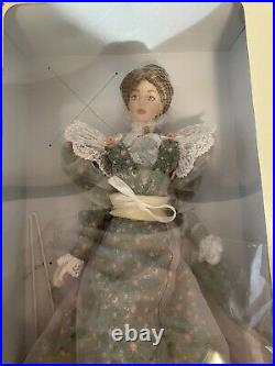 RARE Franklin Mint Vinyl Gibson Girl Lily in Floral Prototype Doll 15 Tall Mint