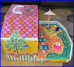 RARE Vintage 1965 Barbie Doll Mattel Tutti and Todd House & Lot of their Clothes