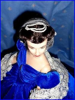 Rare Franklin Mint Scarlett O'hara Blue Portrait Vinyl 16 Doll-plus 2 Outfits