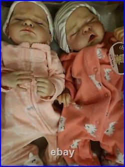 Reborn doll TWINS Genevieve & Josephine by Cassie Brace, LE 167/800 & 382/500