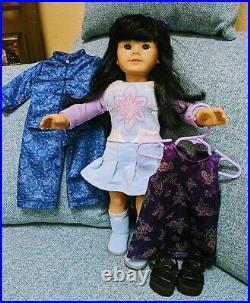 Retired American Girl Asian JLY #4 Chinese & Original Dress LOT Asian Inspired