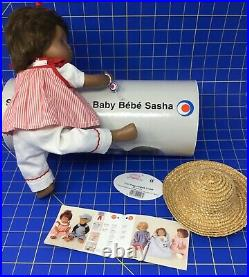 SASHA BIANCA BABY DOLL GOTZ Mint Striped Smock Outfit Tags Small Tube Hat