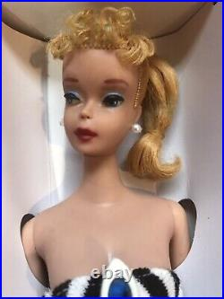STUNNING Vintage #4 Blonde BARBIE withBox SS Heels Book Solid Body, MINT 60s