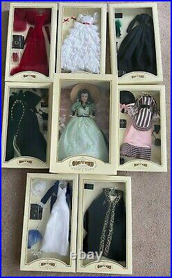 The Franklin Mint Gone with the Wind Scarlett O'Hara Doll 7 Gowns Dresses NIB