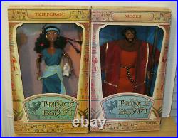 The Prince of Egypt 11 Doll Collection Set of 4 Moses Queen Tzipporah NIP