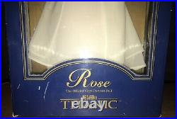 VINTAGE FRANKLIN MINT 16 ROSE TITANIC OFFICIAL VINYL PORTRAIT DOLL White Dress