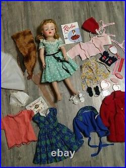 Vintage 1950s IDEAL MISS REVLON DOLL VT-18 18 Blonde Dress Outfit Accessory Lot