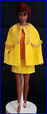 Vintage 1968 BARBIE JULIA RED HAIR in CANDLELIGHT CAPERS DRESS & CAPE N/M MINT