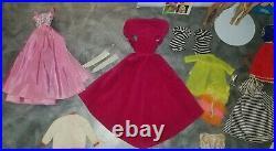 Vintage Barbie #3 Ponytail & Blonde Bubblecut & Vintage Barbie clothing lot