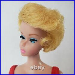 Vintage Barbie #850 Bubble Cut Lemon Blonde Bubblegum Lips HC Restored MINT