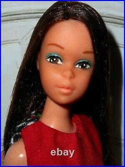 Vintage Barbie VHTF BAGGIE FRANCIE BAGGY DOLL in HM MOD DRESS JAPAN RED SHOES