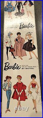 Vintage Beautiful Barbie PonyTail Brunette 1963 Red Swim Suit/ red shoes MINT