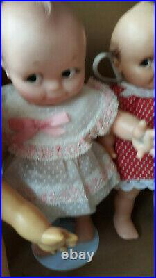 Vintage Cameo Kewpie Doll Lot of 5, 1 with tag Rose O'Neill 6 Inch to 15 Inches