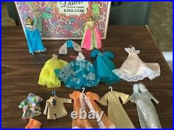 Vintage Dawn and Her Friends Lot of 5 Dolls, Case, Clothes & Acessories VERY NICE