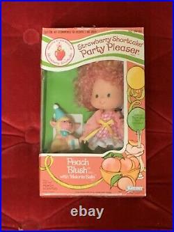Vintage Strawberry Shortcake RARE Party Pleaser Peach Blush Mint In Box