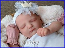 WILLIAMS NURSERY REBORN BABY GIRL ART DOLL Realborn Jennie Asleep NEWBORN belly