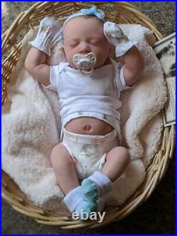 WILLIAMS NURSERY REBORN BABY GIRL ART DOLL Realborn Skya Asleep NEWBORN belly