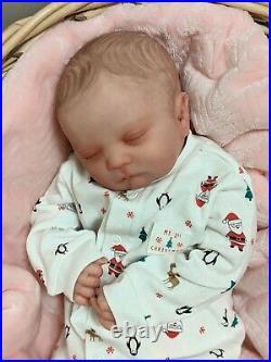WILLIAMS NURSERY REBORN Newborn BABY GIRL BOY DOLL Realborn Pearl Asleep Holiday