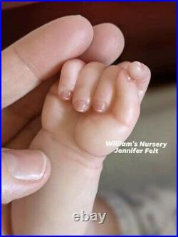 WILLIAMS NURSERY Reborn Baby BOY Doll 17 Anna by Pat Moulton Preemie Newborn BB