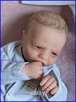 WILLIAMS NURSERY Reborn Baby BOY Doll 19 Realborn Blake Awake realistic Newborn
