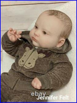 WILLIAMS NURSERY Reborn Baby BOY Toddler Doll 23 Realborn 3 months Joseph Awake